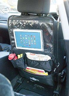 BTR Zaino portaoggetti per sedile auto, porta tablet, lettore dvd e altri accessori multimediali, Organizer da passeggino e da viaggio.