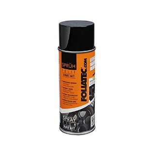 Foliatec Vernice removibile pellicola spray 400ml wrapping auto tuning cerchi NERO OPACO