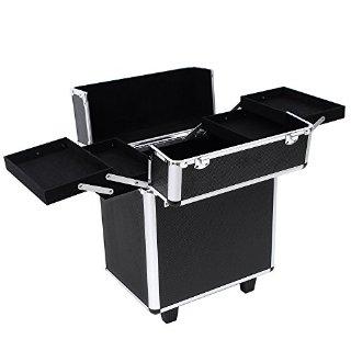 Recensioni dei clienti per Songmics® bellezza trolley cosmetico di trucco degli attrezzi di trucco di bellezza Nail scatola nera valigia bagagli JHZ12B | tripparia.it