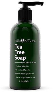 Recensioni dei clienti per InstaNatural Oil Soap Tea Tree antifungini - idratante gel per i piedi e il corpo - acne, odori, batteri, funghi delle unghie e tigna - ideale per la pelle secca, prurito e irritato - 8 oz | tripparia.it