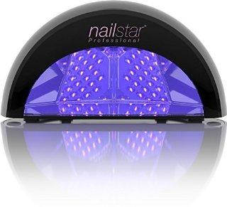 NailStar™ Lampada a LED Professionale Asciuga Smalto per Unghie, per Manicure Shellac e con Smalto Gel, con Timer da 30sec, 60sec, 90sec e 30min (Nero)