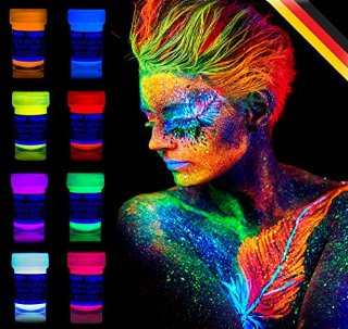 neon nights 8 x 20ml Pittura UV Per Body Painting Neon Luminescente