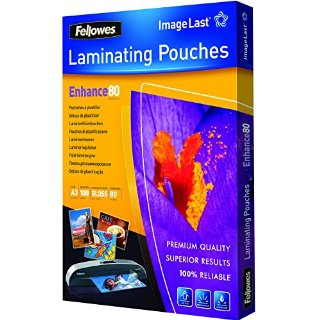 Fellowes Pouches Lucide Enhance80, 80 mic, 100 pezzi, A3