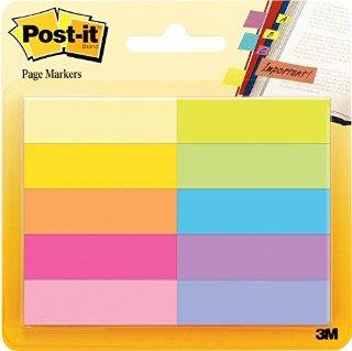 Post-it Brand - Linguette segnapagina, confezione da 10 x 50 fogli, 12,7 x 44,4 mm