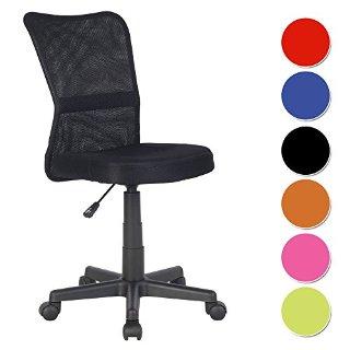 SixBros. Sedia ufficio sedia girevole nero - H-298F/2064