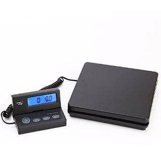 Smart Weigh ACE150 Bilancia digitale per spedizioni postali con cavo estensibile e schermo con retroilluminazione blu chiaro, batterie e cavo USB inclusi