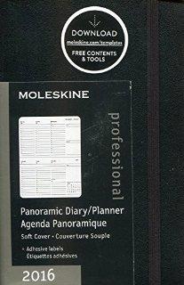 Agenda Panoramique 2016 Poche Noir Co...