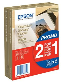 Epson S042167 X2 FOTO Premium Glossy 40 A6 10 x 15 cm (A6) Carta fotografica