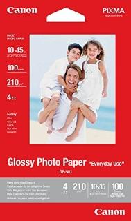 Canon - Carta Lucida  Glossy Paper  Gp-501 4, 100 Fogli