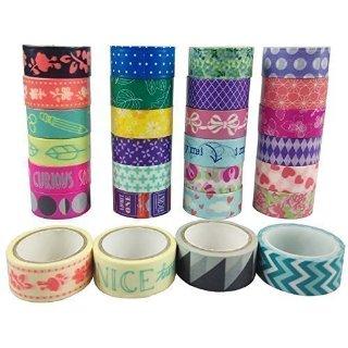 AUFODARA 10 Rotoli Washi Tape Nastro adesivo decorativo nastro