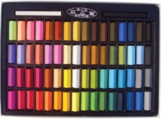 Mungyo - Set di 64 gessetti pastello morbidi, atossici, colori assortiti