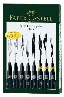 Recensioni dei clienti per Faber-Castell 167.137 - penna a inchiostro Pitt Artist Pen, 8 custodia in plastica, nera | tripparia.it