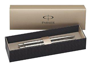 Parker - Set penna a sfera e matita meccanica, in acciaio INOX con rivestimento cromato, 2 pezzi
