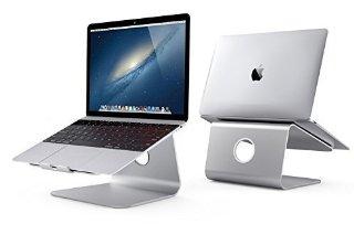 Spinido® TO Stazione Premium Quality alluminio di raffreddamento Laptop Stand per Apple Macbook e tutti i notebook (versione aggiornata), (argento)