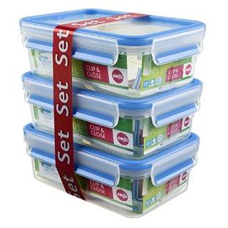 Recensioni dei clienti per Emsa 516 943 3 pezzi Frischhaltedosenset, 1 litro, trasparente / blu, Clip & Chiudi | tripparia.it