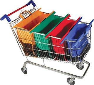 Recensioni dei clienti per Set di borse della spesa 4 pieghevoli, forti, profondi, di grandi dimensioni, facile da trasportare e riutilizzabili, adatto anche per i viaggi - colori pastello | tripparia.it