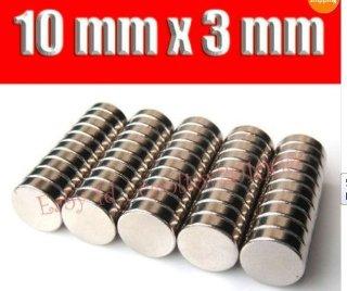 Big Bargain Store - Magneti, in Neodimio e Terre rare, 10 x 3 mm, confezione da 50