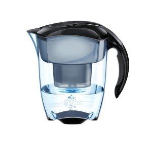 Brita 1000817, Caraffa filtrante Elemaris Brita Meter XL, 2,2 L di acqua filtrati, tecnologia di filtrazione Maxtra, colore: Nero