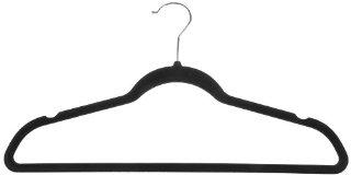 AmazonBasics - Gruccia in velluto per abiti da uomo, 50 pezzi, colore nero