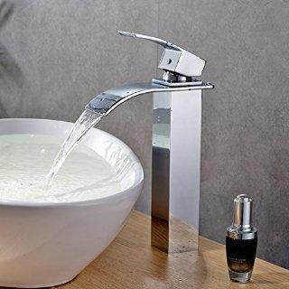 Auralum® lavabo monocomando rubinetto miscelatore cascata singola estesa per bagno mano