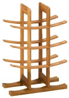 Zeller 13580 Scaffale portabottiglie in bambù 29 x 16 x 42 cm