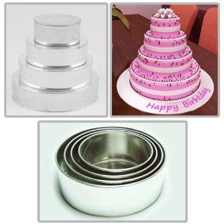 Teglia per torta rotonda a forma Set di 4 tortiera - dimensioni = 6