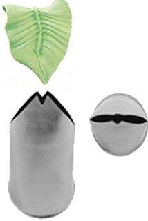 Sac-à-poche per decorazioni a forma di foglia, punta 114, zucchero a velo, in acciaio inox