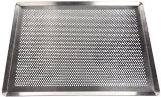 De Buyer 7367.40 - Teglia da forno rettangolare forata, per pasticceria, da 40 x 30 cm, in alluminio, colore: Naturale alluminio