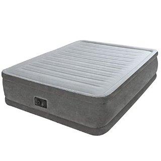Intex -  Materasso gonfiabile Comfort Plush Elevated, 152x203x46 cm