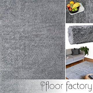 Tappeto moderno Colors grigio argento 200x290cm - tappeto shaggy pelo lungo super economico