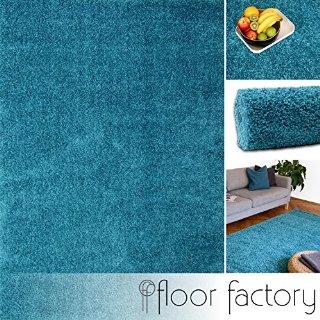 Tappeto moderno Colors blu turchese 80x150cm - tappeto shaggy pelo lungo super economico