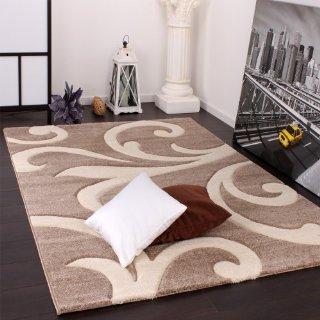 Recensioni dei clienti per Tappeto di design con contorni taglio moderno Beige Crema, Dimensioni: 160x230 cm | tripparia.it