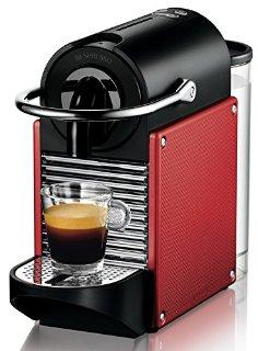 Nespresso Pixie EN125.R macchina per caffè espresso di De'Longhi, colore Red Carminio