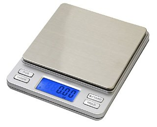 Smart Weigh TOP500 - Bilancino digitale con display LCD retroilluminato, funzione Hold/PCS, portata 500 x 0,01 g