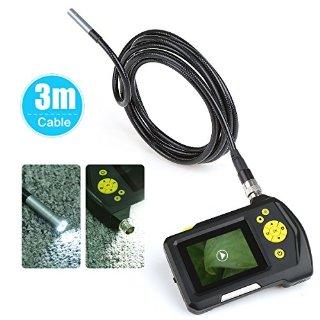 Crenova® iScope Endoscopio palmare impermeabile digitale Ispezione endoscopio fotocamera con vibrazione e schermo da 2.7 pollici e cavo da 1 metri
