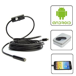 Toontor-7 millimetri - 6LED Android OTG endoscopio USB impermeabile resistente serpente per Smartphone 5 m
