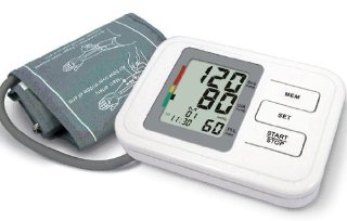 Sfigmomanometro automatico digitale da braccio con 60 spazi di memoria, funzione battito cardiaco irregolare, data, ora - include bracciale per adulti, batterie e manuali di istruzioni