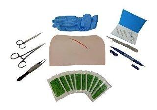 Kit da medico per pratica nelle suture,set professionale con 10 aghi misti e filo