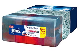 Tempo, Fazzoletti in scatola, 3 confezioni da 80 pz.
