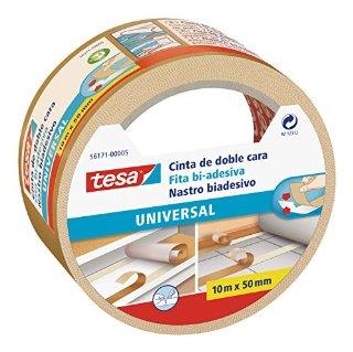 Tesa 56171-00005-02 Nastro Biadesivo Universale, 10m:50mm, Trasparente
