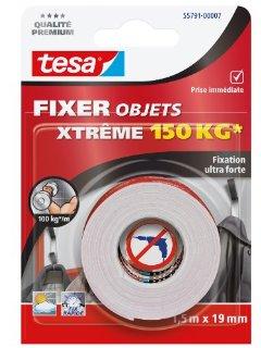 Tesa 55791-00007-00 - Nastro biadesivo per oggetti, tenuta extra forte, 150 kg, 1,5 m x 19 mm