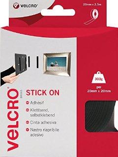 Recensioni dei clienti per Velcro VEL-EC60215 - adesivo per oggetti appesi (2 cm x 2,5 m) strisce, colore nero | tripparia.it