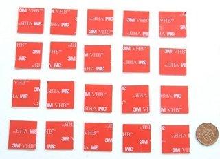 Recensioni dei clienti per 20 doppi cuscinetti in schiuma biadesivo x chiare, realizzati da 3M | 25mm x 25mm fissatori nastro adesivo quadrati | tripparia.it