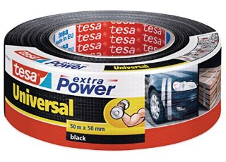 Tesa 56389-00001-05 Extra Power Universal Nastro Telato Americano, 50m:50mm, Nero
