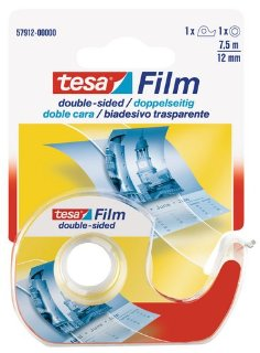 Tesa 57912-00000-01 Nastro Biadesivo con Dispenser, 7,5mx12mm