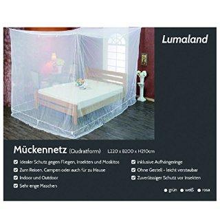 Zanzariera Quadrata Lumaland 220x200x210 per interni ed esterni colore bianco