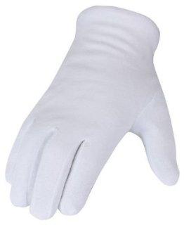 SBS - 12 guanti in cotone, misura 7, colore: bianco