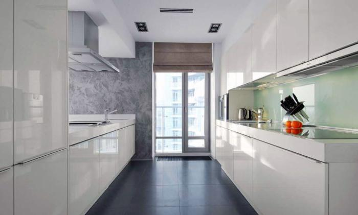 stucco decorativo in cucina in stile high-tech