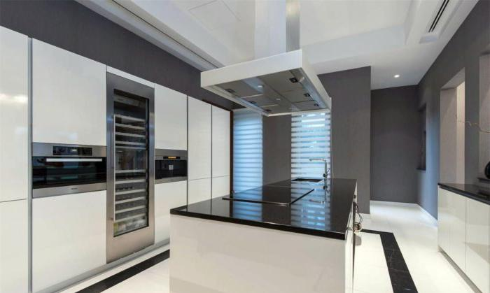 cucine da studio hi-tech in una casa privata